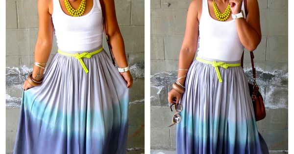ombre dyed maxi skirt tutorial