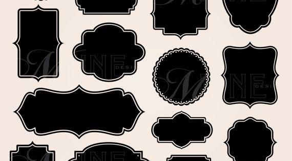 Frame Labels Clipart Digital Clip Art Vector Design Elements Etsy Digital Clip Art Clip Art Photo Album Scrapbooking