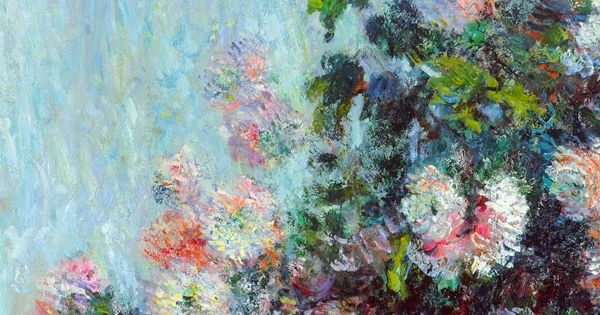 """ Chrysanthemums (detail), Claude Monet. """
