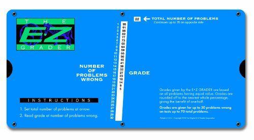 E Z Grader 7200 Large Print E Z Grader Educational Grading Chart Computes Percentage Scores Classroom Instruction Graders Education