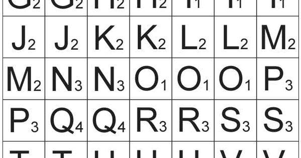 Free Printable Scrabble Letters Clip Rtz Templatez