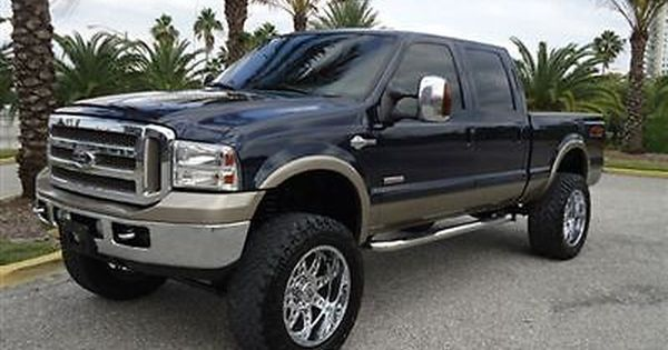 2006 Ford F 250 Crew Cab King Ranch Fx4 Diesel 8inch Lift 22 Rims