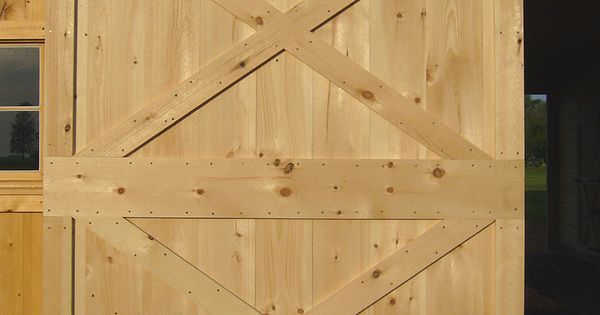 Simple Cross Brace Style Sliding Barn Door Barn