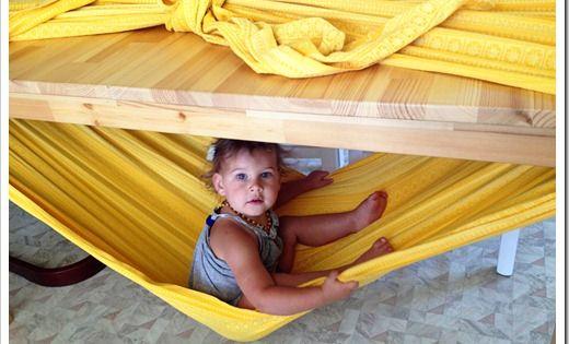 diy hammock for kids hamak dla dzieci