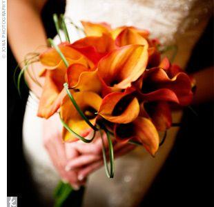 Mango Calla Lilies Bridal Bouquet Fall Fall Bouquets Calla Lily
