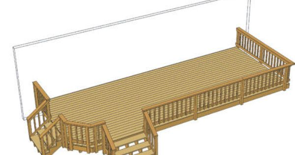 30 X 12 Deck W Building A Deck Deck Deck Projects
