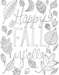 Free Happy Fall Y All Coloring Page Fall Coloring Sheets Fall Coloring Pages Fall Coloring Pictures