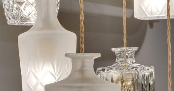 glas garafen ideen f r leuchten selber machen licht pinterest leuchten selber machen und glas. Black Bedroom Furniture Sets. Home Design Ideas