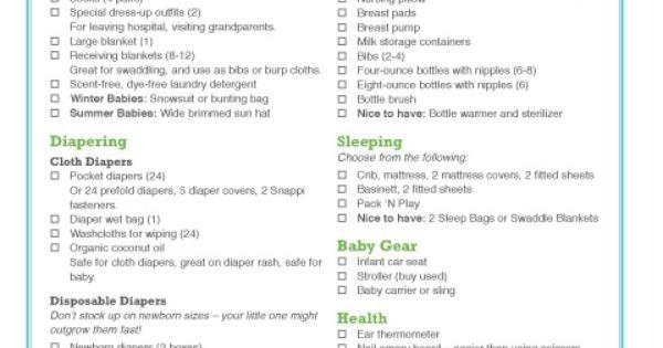 Baby Gift Registry List Ideas : Baby gift registry checklist shower ideas