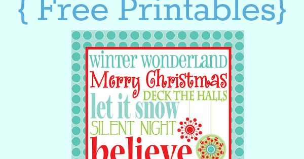 100 Christmas ideas christmas printables