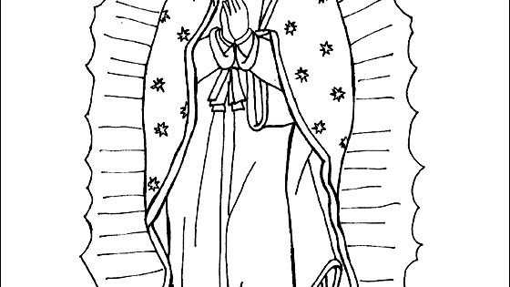 Our lady of guadalupe coloring page catholic coloring for Virgen de guadalupe coloring pages