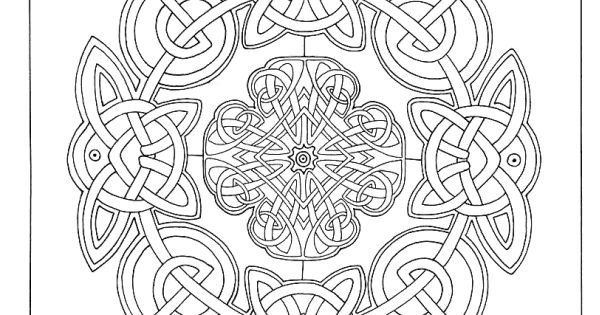 Art Therapy Celtic 100 Designs Colouring In And