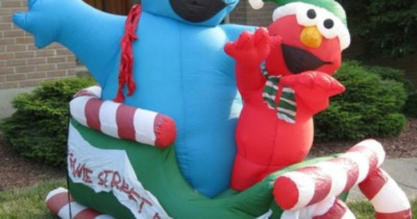 Elmo Inflatable Christmas Decorations