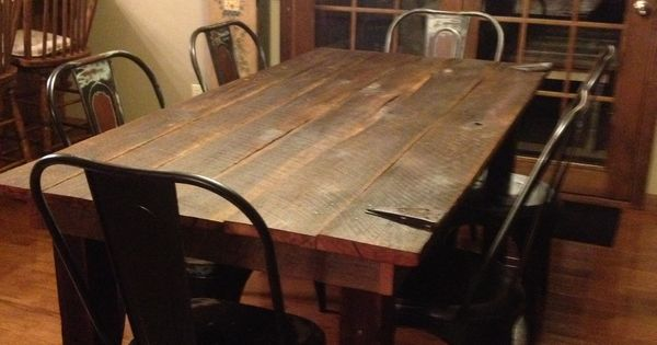 Old Barn Door Dining Room Table Dream Home Pinterest Dining Room Tables