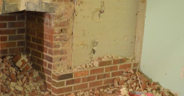 Brick Fireplace Wall Demolition Ladies Demo Wine Night