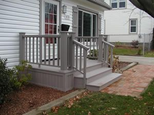 Small Porch Restoration With Trex Small Porches Front Porch
