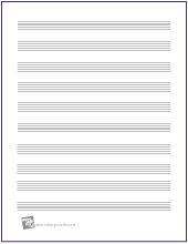 Blank No Clef Free Printable Manuscript Paper Makingmusicfun