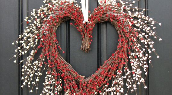 VALENTINE WREATH, Valentines Wreath, Valentines Day Decor, Door Wreaths - You Have
