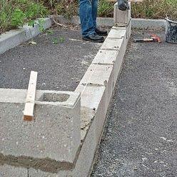 Construction D Un Muret En Parpaing Parpaing Muret Mur En Parpaing