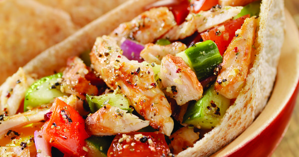 Slow Cooker Greek Chicken Pita and more easy crockpot recipes. Read comments