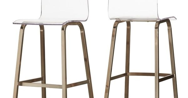Miles Clear Acrylic Swivel Bar Stools With Back By Inspire