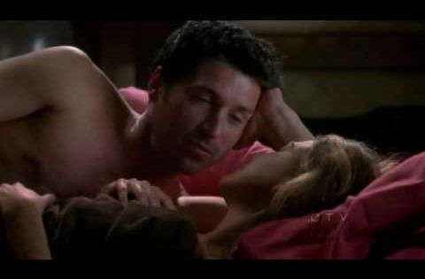 derek and meredith first scene of the season finale =D ...