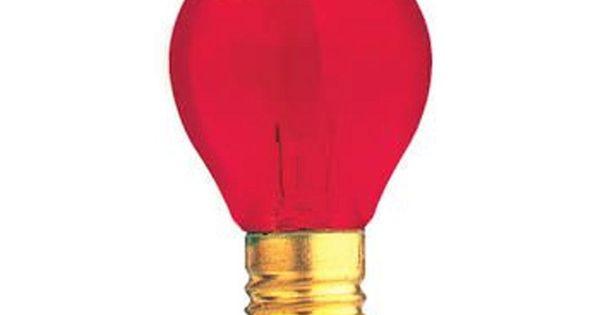 10w S11 Transparent Red E17 130v Indicator Sign Night Light Case Of 25 In 2020 Specialty Light Bulbs Light Bulb Bulb