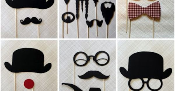 photo booth props - glasses, hats, mustaches, pipes = fun