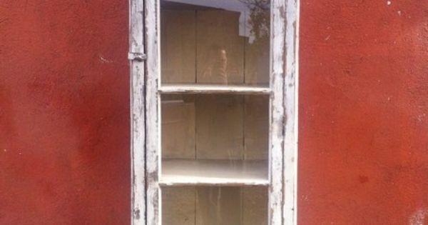 Armario Vitrina Antigua : Antigua vitrina armario alto tipo alacena vitrinas