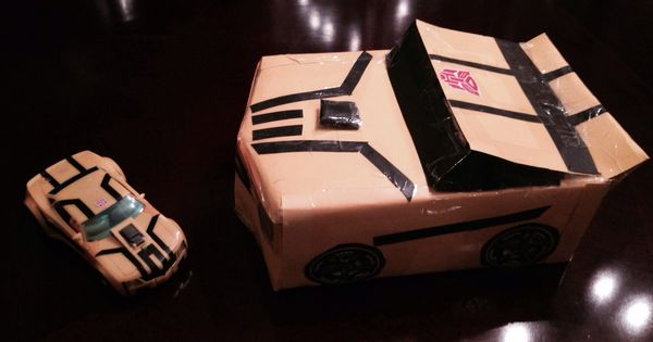 Transformer Bumblebee valentine box for my son. He loved ...