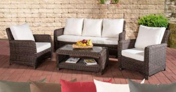 Inspirational Poly Rattan Garten Loungem bel Set SAN FERNANDO ALU Gestell er Sofa Sessel Lounge Tisch x cm Jetzt bestellen unter https moebel
