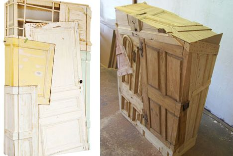 Upcycled Scraps Of Wood! Unbelievable. Doors, Wood Panels And Scrap Wood.  All Made Into A Cabinet! | UpCycling! | Pinterest | Reclaimed Doors,  Shelves And ...