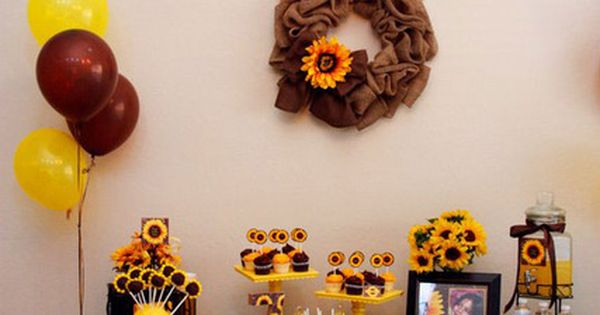 Sunflower happy birthday banner