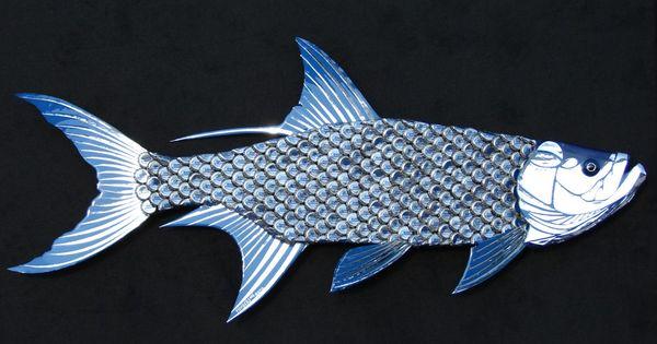 Metal Fish Wall Lights : Tarpon Fish Large Metal Wall Art Bud Light Bottle Caps Bud light, Bottle and The cap
