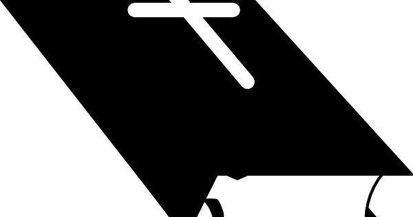 Single Line Symbol Art : Christian symbol black line art for kids closed bible