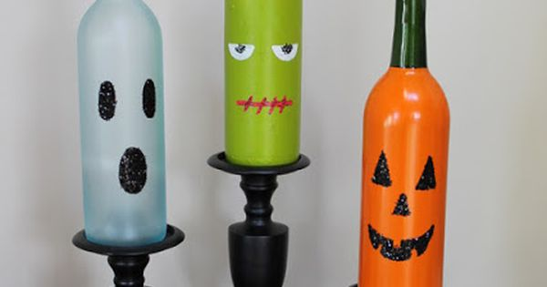Halloween themed wine bottles corks wine crafts diy pinterest winecrafts craftideas steveswinesack