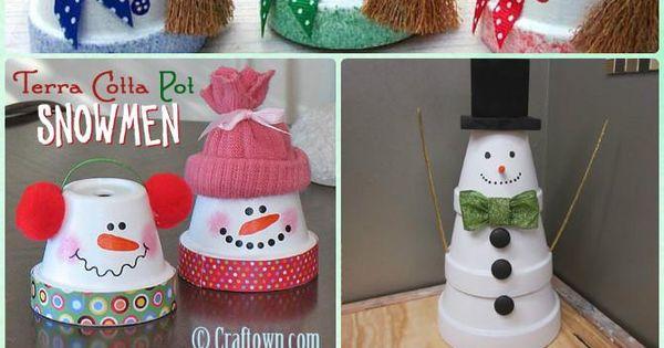 DIY Clay Pot Snowman Instruction - DIY Terra Cotta Clay Pot Christmas ...