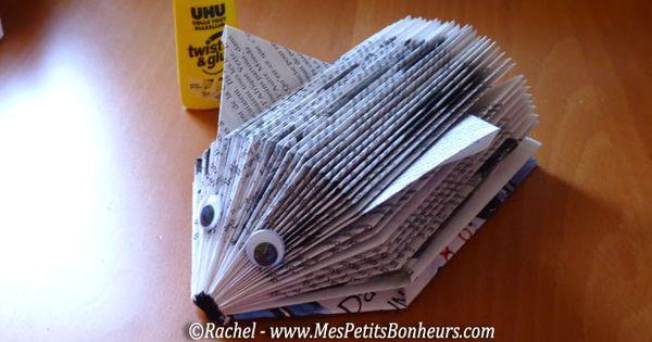 H risson livre brico r cup livre pinterest technique - Activite manuelle avec du papier ...
