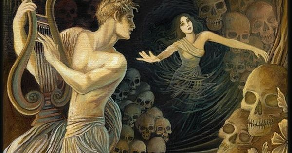 Orpheus and Eurydice Greek Mythology Original by ...