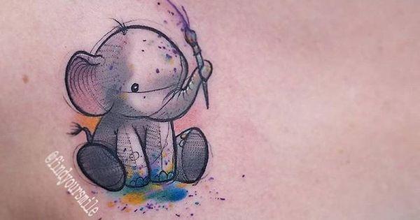 small elephant tattoo - Google Search | elephants ...