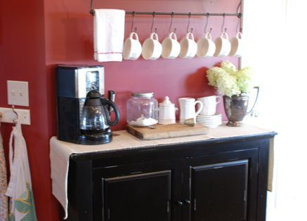 To make room on my kitchen counters, a coffee bar in the