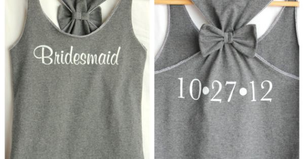 Bridesmaids tank tops