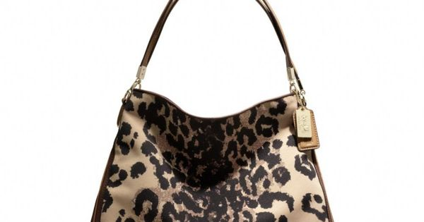The Madison Phoebe Shoulder Bag In Ocelot Print Fabric from Coach Cheap