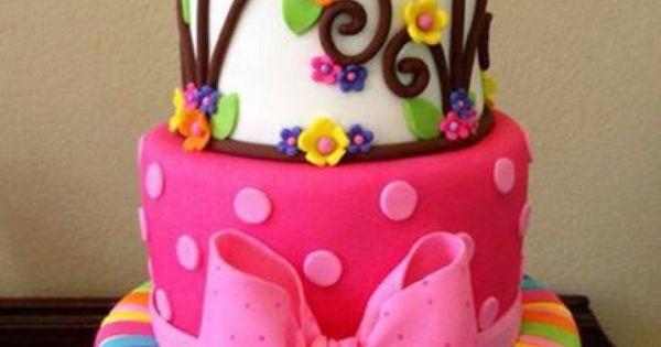 Idea para pastel de cumplea os de ni a baby shower - Bizcocho de cumpleanos para ninos ...