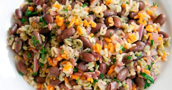 Black Soybean Alphabet Salad | Macrobiotic | Pinterest ...