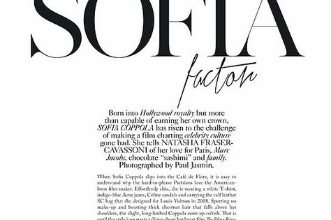 fashion inspiration editorial the sofia factor page
