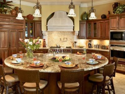 Casa Deleon Round Kitchen Island Round Kitchen Kitchen Island Design