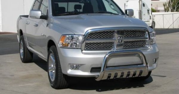 178 Premium Stainless Steel Bull Bar Bumper Brush Guard With Skid Plate With Skid Plate Fits 09 15 Ram 1500 Bull Bar Bumpers Ram