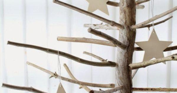 Les jolies choses de no l 3 un sapin avec du bois flott - Arbre de noel en bois flotte ...