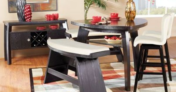 Love how nontraditional this dining room set is Although  : 545effd80962daf1ea3054a61b0ad804 from www.pinterest.com size 600 x 315 jpeg 31kB